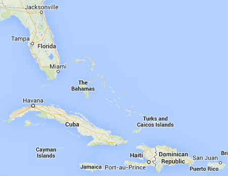 Haiti is less than 2 hours away from Miami, Florida